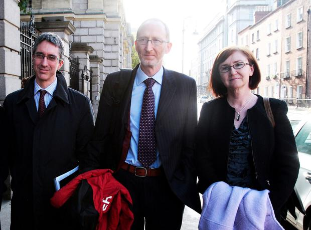 Commissioners Garrett Blaney, Paul McGowan and Aoife MacEvilly