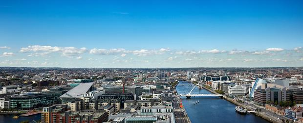 New offices: The Dublin skyline as seen from Capital Dock in the city's docklands