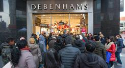 Debenhams operates 11 outlets in Ireland, including on Dublin's Henry Street