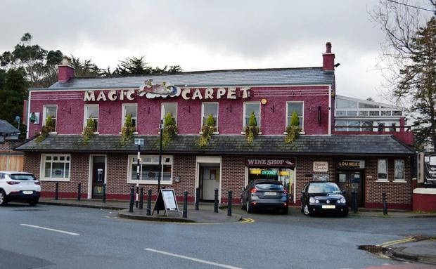 Sought-after suburb: The landmark Magic Carpet public house and (below) adjoining lands in Foxrock offer significant potential for redevelopment as pure residential, commercial or mixed-use scheme