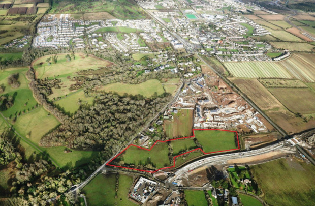An aerial view of the Donabate site