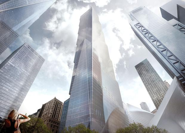 'On spec': Developer Larry Silverstein believes strong leasing activity at neighbouring towers may support a plan to begin construction of 2 World Trade Center. Source: Bjarke Ingels Group