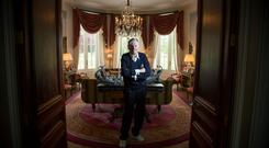 Special K: Dr Michael Smurfit pictured at his house at the K Club