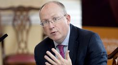 Profits rise: Permanent TSB chief executive Jeremy Masding presided over a 45pc rise in pre-tax profits, before exceptionals, for last year. Photo: Fennell Photography