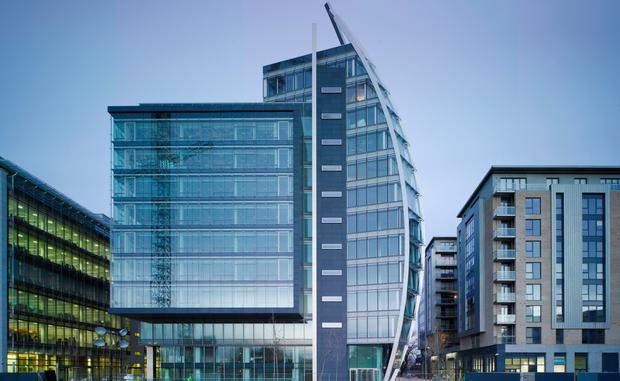 Mega deal: The Brunel Building, which is fully let to the HSE, forms the centrepiece of Marathon Asset Management's Heuston South Quarter portfolio. The sale of the scheme is expected to attract a wide range of investors