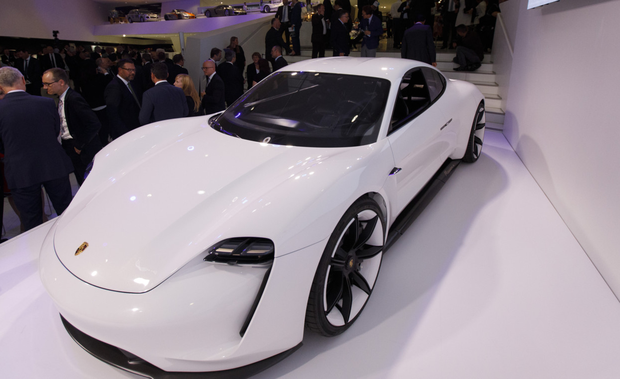 Porsche's Taycan is part of a wave of new models from Jaguar, Mercedes-Benz and Audi that'll challenge Tesla's electric-car leadership. Photo: Bloomberg