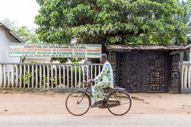 On the road: A man cycles through Porto-Novo, the capital of Benin; United's deal with Elephant Oil to farm in to their Block B onshore acreage in the West Africa country, has the potential for 200 million barrels of oil. Photo: AFP/Getty Images