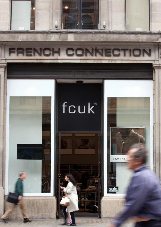 Sign of the times: French Connection was hit by a dip in sales in store and online