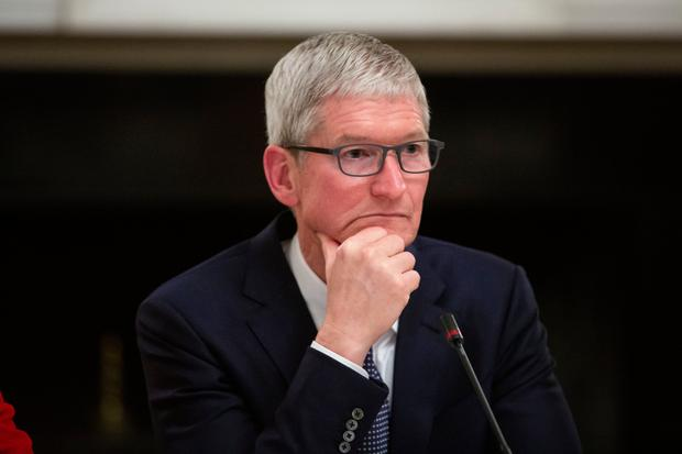 Apple CEO Tim Cook highlighted services. Photo: Bloomberg