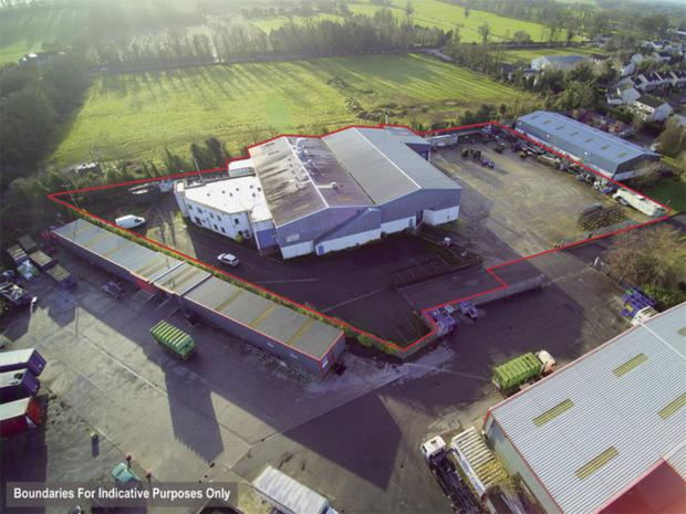 Aerial view: of the Summerhill Industrial Estate unit and site