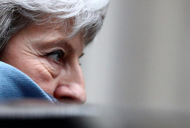 Under pressure: British Prime Minister Theresa May. Photo: Reuters