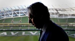 Cash flow: Football Association of Ireland CEO John Delaney faces questions over the €100,000 loan