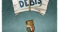 A new report points out that even a modest downturn and a drop in economic growth could push up household debt to a level close to its pre-crisis peak. Stock image