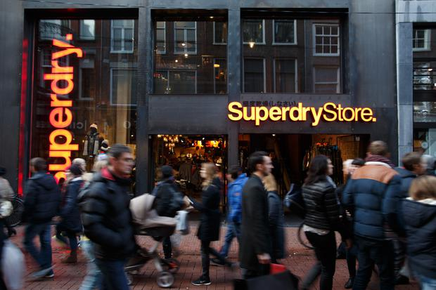 Superdry chairman Peter Bamford, CEO Euan Sutherland and chief financial officer Ed Barker will leave immediately, the company said Tuesday. Photo: Bloomberg