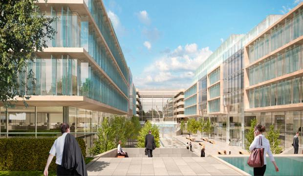 Expansion: An artist's impression of Facebook's new Ballsbridge offices. The company also let 16,000 sq m (172,000 sq ft) at Nova Atria South in the first quarter of 2019