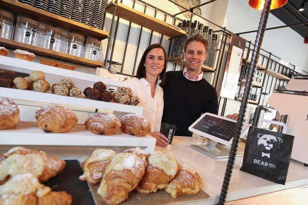 Stephen and Ruth Deasy, founders of the Bear Market coffee chain, in their new George's Street outlet, a cashless store that opens tomorrow