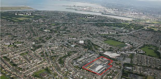 The industrial and commercial park in Artane, Dublin 5
