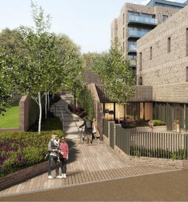 An artist's impression of the Foxrock apartments scheme