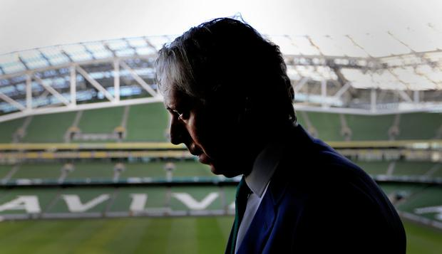 FAI's John Delaney at the Aviva stadium. Photo: Gerry Mooney