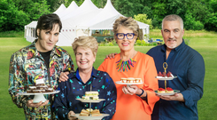 Paul Hollywood, far right, with his TV colleagues