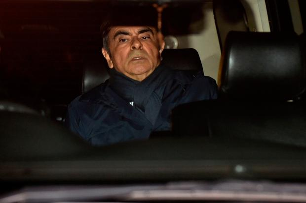 Allegations: Carlos Ghosn was hit with another charge on the day his latest detention period was due to end. Photo: AFP/Getty Images