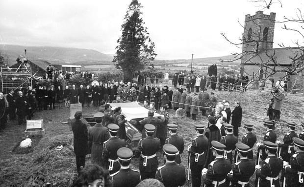 State funeral for President Erskine Childers