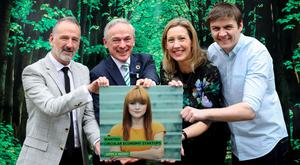 Martin Tobin, CEO, ERP Ireland; Richard Bruton, Minister for Communications; Vivienne Lawlor of FoodCloud; and Patrick Walsh of Dogpatch Labs