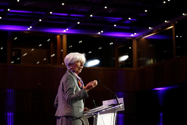 Hope: IMF boss Christine Lagarde said they had thought the 'threat was waning' and a deal was on the cards