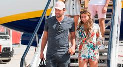 Love Island contestants arrive at Stansted Airport, Photo: PA