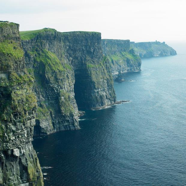 The Cliffs of Moher is the most popular natural visitor attraction in the country and last year pulled in a record 1.5 million visitors - an increase of 3.8pc on 2017. Stock photo