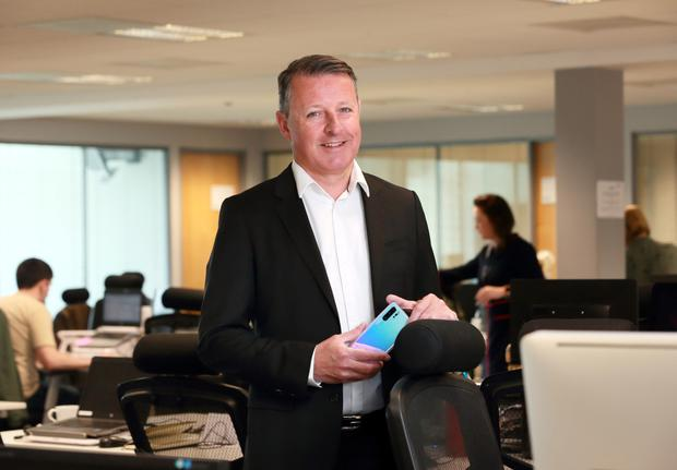 Dixons Carphone boss Mark Delaney at the group's offices in Santry. Photo: Frank McGrath