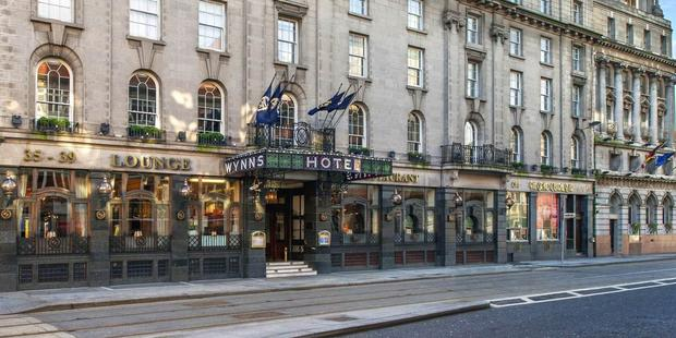 Historic: The hotel, off O'Connell Street in Dublin, was built in 1845