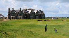 The Doonbeg golf course and hotel in Co Clare. Photo: PA