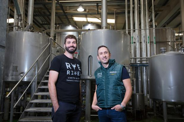 Going with the flow: Rye River head brewer Bill Laukitis and Tom Cronin, founder and managing director at Rye River Brewing Company