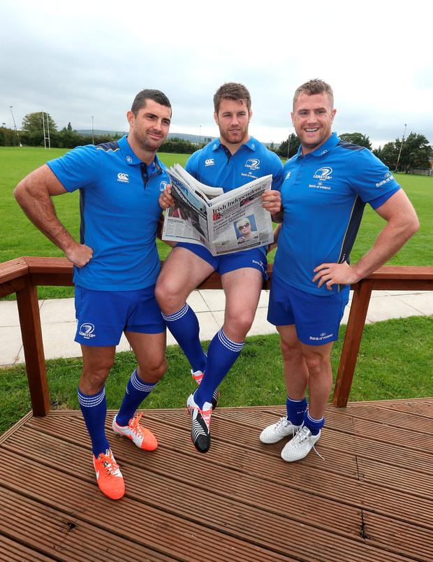 Rob Kearney, Sean O'Brien and Jamie Heaslip,