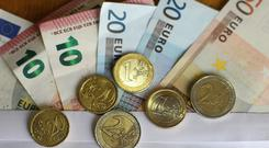 A private sector worker's average pay rose from €685 a week, or from €35,794 a year to €37,291. Stock Image