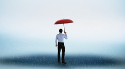 The need to prepare for another financial rainy day could be brought home by a downturn in the US financial cycle. Stock Image