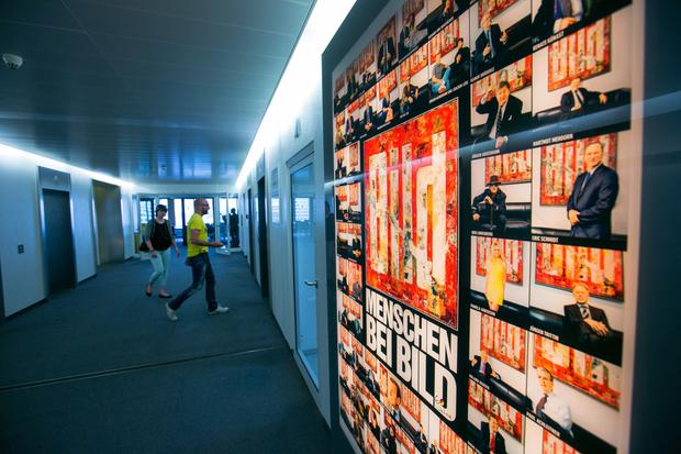 Shares up: The editorial offices of Axel Springer's 'Bild' in Berlin. Photo: Krisztian Bocsi/BloomberG