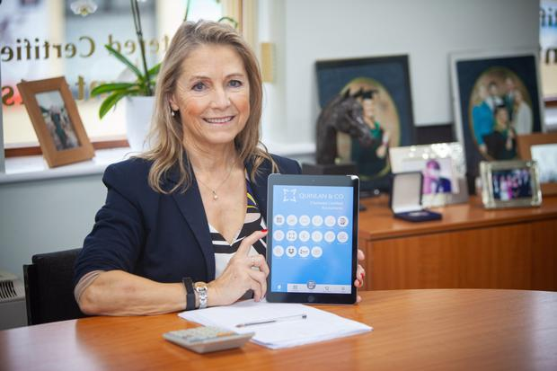 Eilis Quinlan with the new financial app