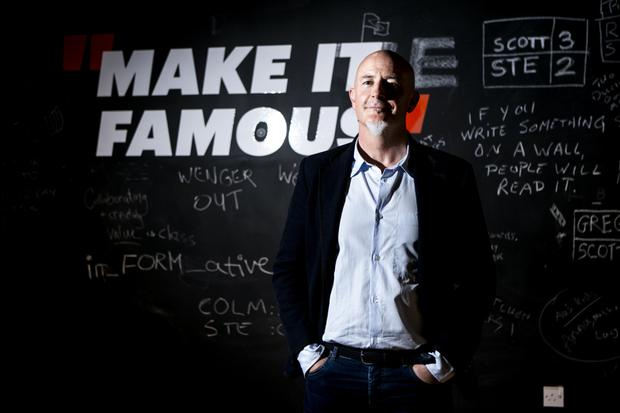The big buy-out: 'For the first 15 years of the business we didn't even have a partnership agreement,' says Rothco CEO Patrick Hickey. The self styled advertising punks are now part of globe spanning Accenture Interactive. Photo: Kyran O'Brien