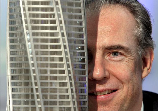 High stakes: Garret Kelleher's €1.5bn Chicago Spire would have been one of the world's tallest buildings