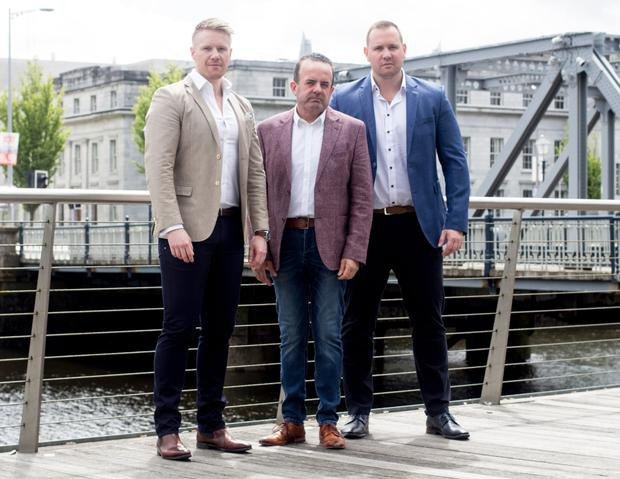 Sisu Aesthetic Clinic founders Dr James Cotter, Pat Phelan and Dr Brian Cotter have ambitious plans to have 40 clinics open next year