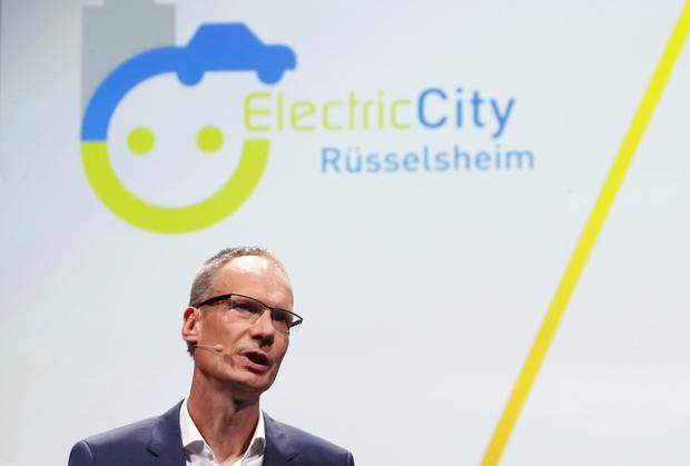 Vision: Michael Lohscheller, chief executive officer of Opel, which will help its home town of Russelsheim, Germany, to build 1,300 electric charging points by 2020. Photo: REUTERS/Ralph Orlowski