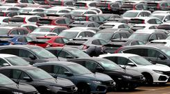 Decelerating: Car production in April fell 24pc on the month, the biggest drop since records began in 1995. Photo: PA