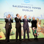 High hopes: Finance Minister Paschal Donohoe, Salesforce CFO Mark Hawkins, Taoiseach Leo Varadkar and Salesforce executive VP, real estate, Elizabeth Pinkham at the Salesforce Tower launch in Dublin in January