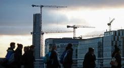 Building: Construction is forecast to be the sector to experience most employment growth. Photo: Chris Ratcliffe/Bloomberg