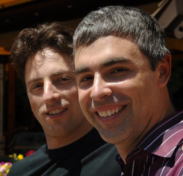 Larry Page and Sergey Brin, Alphabet's top executives