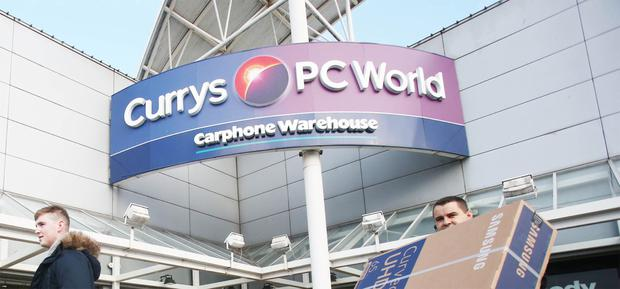 Irish success: Currys PC World and Carphone Warehouse performed well