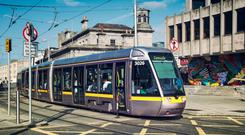 Children will be able to travel on the Luas for free until July 28