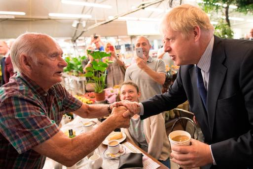 Out and about: Conservative leadership contender Boris Johnson meets the public. Photo: PA